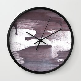 Gray claret abstract Wall Clock