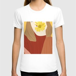 Girl and her flower T-shirt