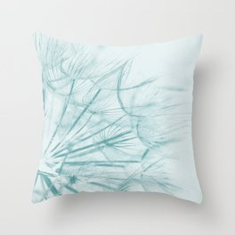 Dandelion In Blue Throw Pillow