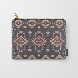 Trendy tribal geometric rose gold pattern Carry-All Pouch