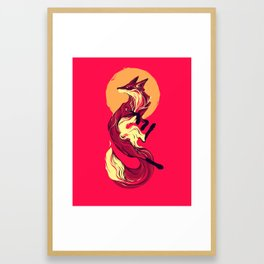 Sun Fox Framed Art Print