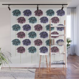 Colorful Carnation Flower Pattern Wall Mural