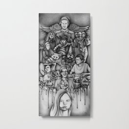 Metaphors - Youtubers Metal Print