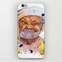 popeye iPhone & iPod Skins featuring The real popeye-Ron Everett by Liza's Brushes