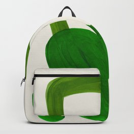 Minimalist Modern Mid Century Colorful Abstract Shapes Olive Green Retro Funky Shapes 60's Vintage Backpack
