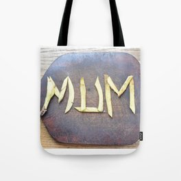Mother's Day design with banana skin. Tote Bag