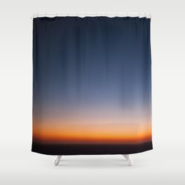 sunset over the indian ocean Shower Curtain