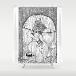 asc 514 - La fille qui aimait la pluie (Rider on the storm) Shower Curtain