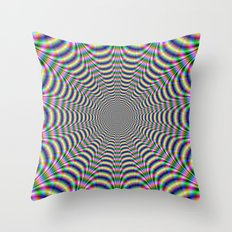 Psychedelic Web Throw Pillow