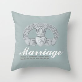 Married in September Throw Pillow