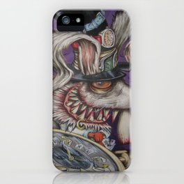 mad hatter your late .... iPhone Case