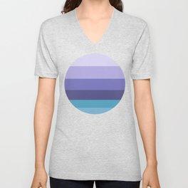 Purple & Blue Geometric Pattern Unisex V-Neck