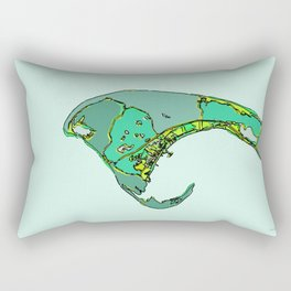 Abstract Map Provincetown MA Rectangular Pillow
