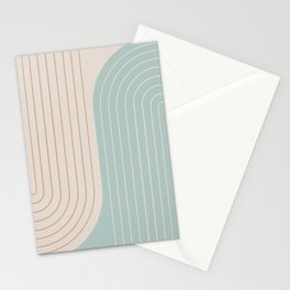 Two Tone Line Curvature XXXX Stationery Cards