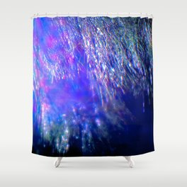 Under the Shimmering Branches Shower Curtain