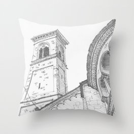 Bergamo Square, Italy Throw Pillow