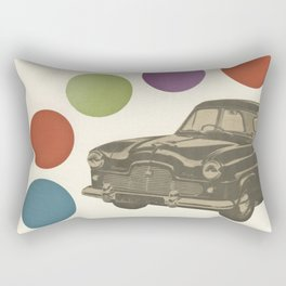 Driving Around in Circles Rectangular Pillow