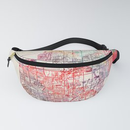 Pompano Beach map Florida painting Fanny Pack
