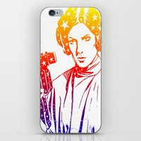 princess leia iPhone & iPod Skins featuring Princess Leia by mchlsrr