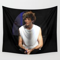 louis tomlinson Wall Tapestries featuring Fluffy Louis by clevernessofyou