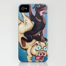 Iggy the Dog Riding the Pig iPhone (4, 4s) Slim Case