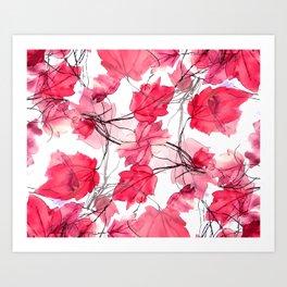 Floral Print Swirls Decorative Design Art Print