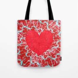 Frosty heart Tote Bag