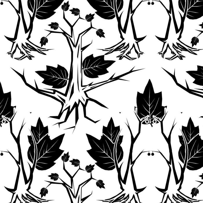 Pattern tree black Comforters