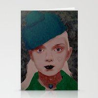 noir Stationery Cards featuring Noir by Eveline