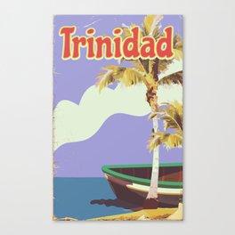 Trinidad vintage travel poster Canvas Print