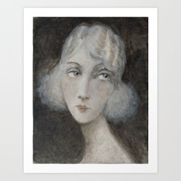 1920's style young woman Art Print