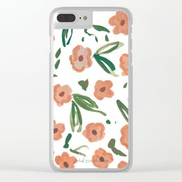 Live Simply Floral Pattern Clear iPhone Case