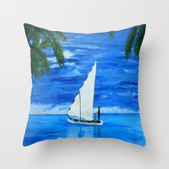 Sailing a way  Throw Pillow