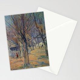 Julian Alden Weir Connecticut Village (Going to School) Stationery Cards