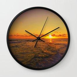 Seas the Day Wall Clock