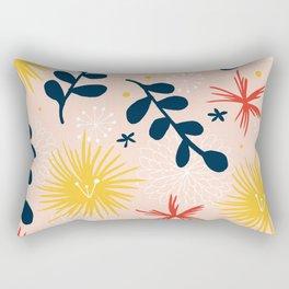 bold floral retro print Rectangular Pillow