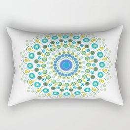 Dotty Mandala Green Rectangular Pillow