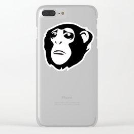 Sad Monkey Clear iPhone Case