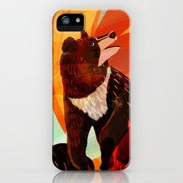 Taiga on Fire iPhone Case