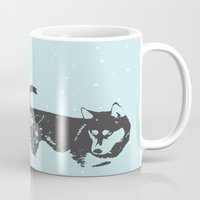 frank sinatra Mugs featuring Sinatra Blue  by Wolves In Space
