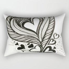 HeArt Therapy - Black and white heart Rectangular Pillow
