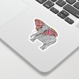 Bella The Happy Butterphant Sticker