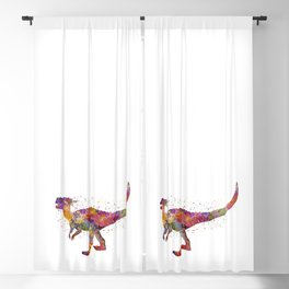 Dracorex dinosaur in watercolor Blackout Curtain