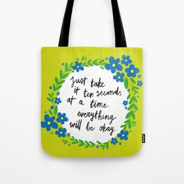 Ten Seconds - Lime Tote Bag