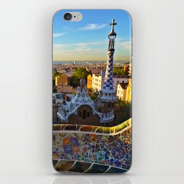 Park Guell, Barcelona, Spain in Sunrise iPhone Skin
