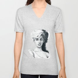 Face disgusted Unisex V-Neck