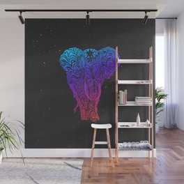 Not a circus elephant neon version Wall Mural