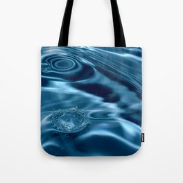 Deep Blue Drip Tote Bag