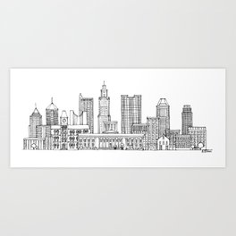 Columbus, Ohio skyline Art Print