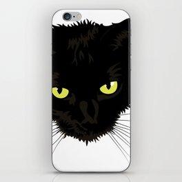 Black Cat Face iPhone Skin